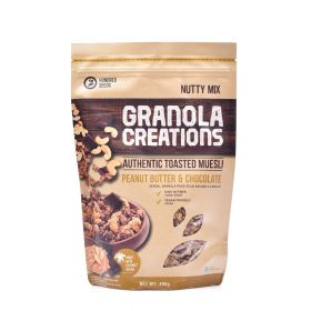 Peanut Butter & Chocolate Granola Creations Hundred Seeds 400 g