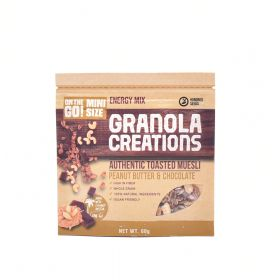 Peanut Butter & Chocolate Granola Creations Hundred Seeds 60 g