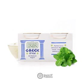 Greek Style Yogurt Natural Farmers Union 140g (Pack of Two)