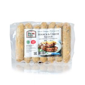 Spinach and Cheese Sausage 7 pcs Big Farm 500g